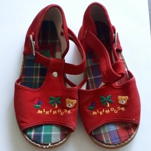 Brand New Red MIKIHOUSE Sandals